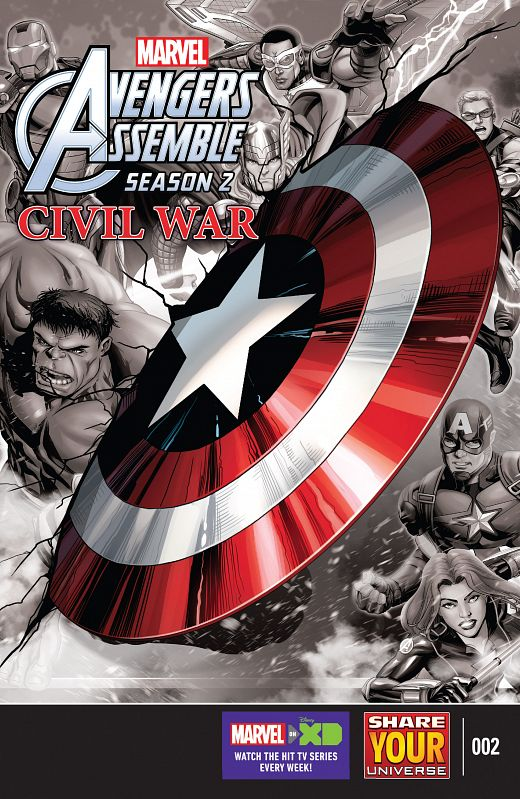 Marvel Universe Avengers Assemble - Civil War #1-4  (2016)