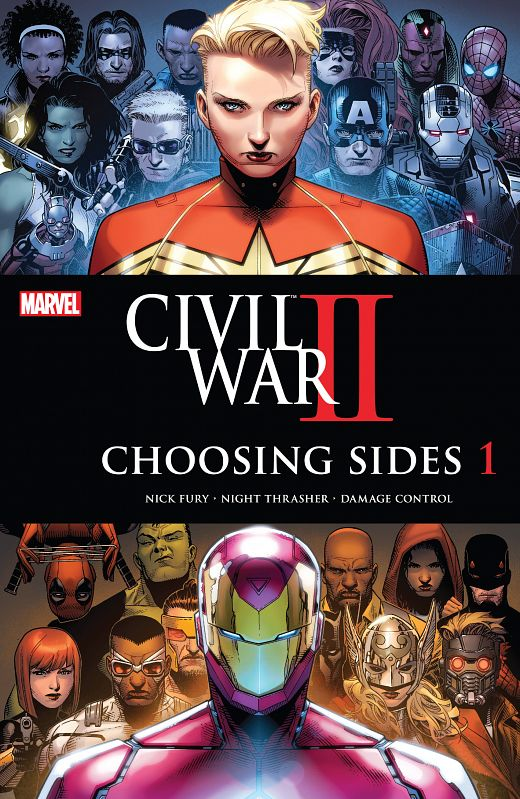 Civil War II - Choosing Sides #1-6 (2016) Complete