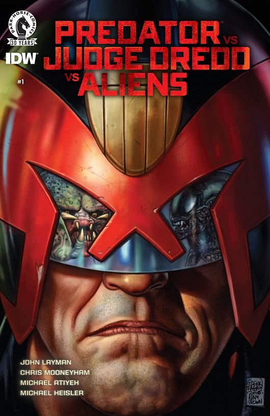 Predator vs. Judge Dredd vs. Aliens #1-4 (2016-2017) Complete